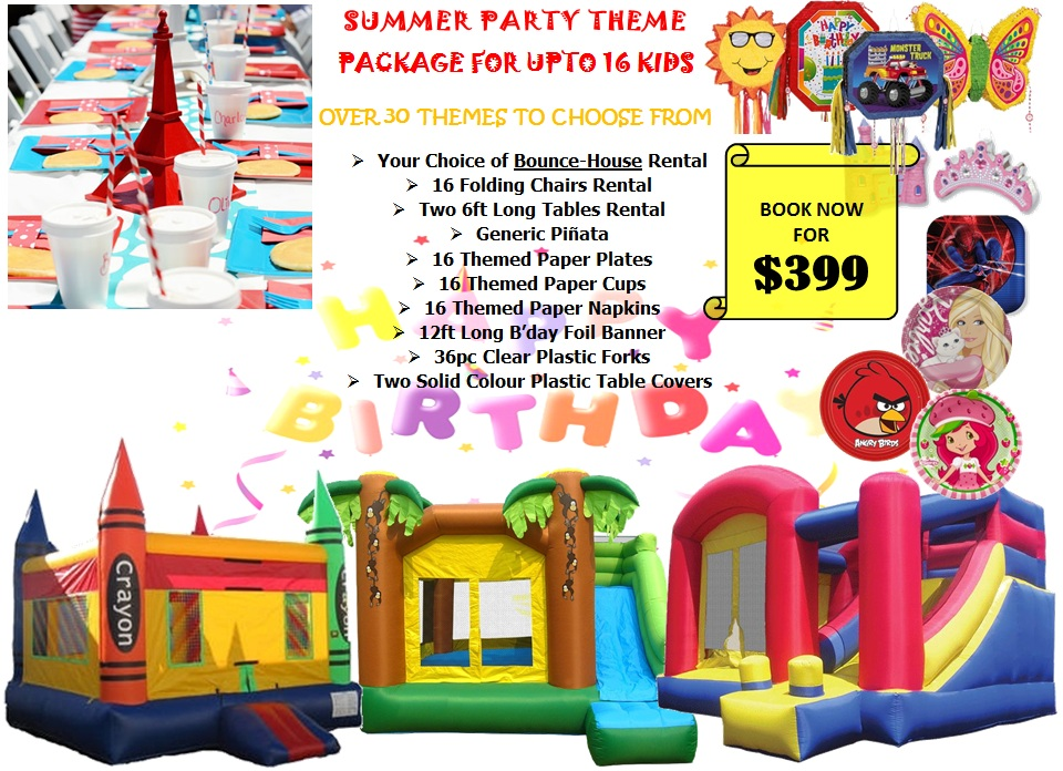 Edmonton party rental summer theme party package Summer party themes