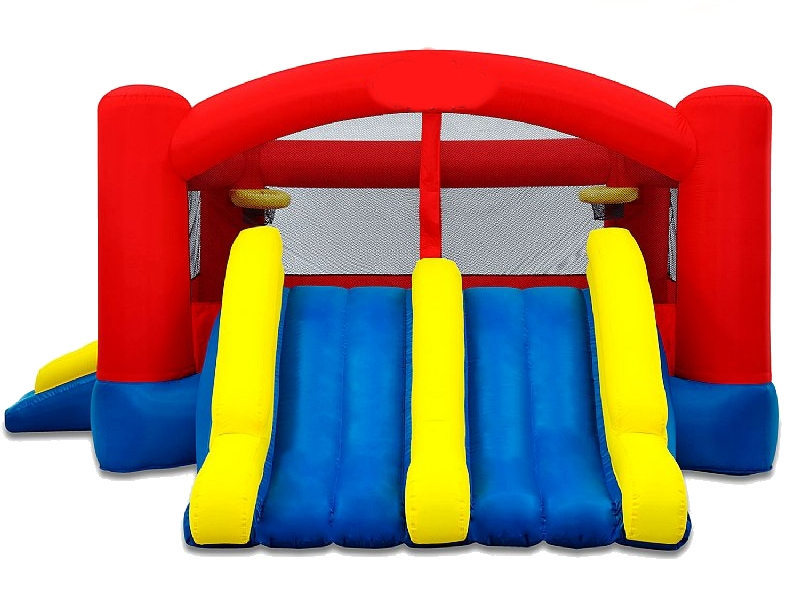 Triple Play Bouncer with Two Slides (Double Slide)